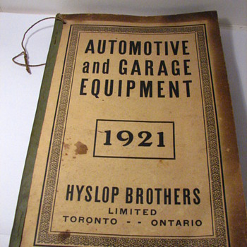 1921 HYSLOP BROS. TORONTO AUTO &amp; GARAGE CATALOG - Books