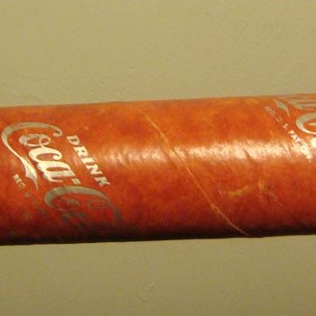1940s Cardboard Coca Cola tube - Coca-Cola