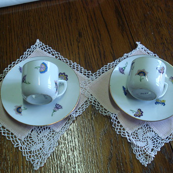 Art Deco German coffee cups - China and Dinnerware