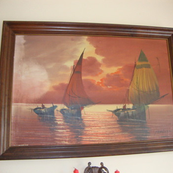 The three sailing boats - Posters and Prints