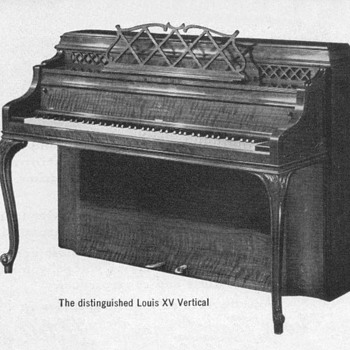 "1952 - Steinway ""Louis XV"" Piano Advertisement"