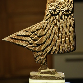 Midcentury Owl Sculpture - Animals