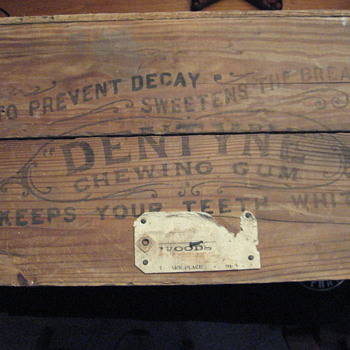 Old Dentyne Gum Shipping Crate