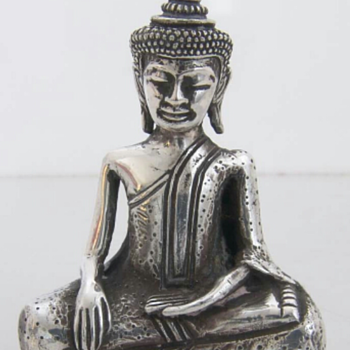 STERLING SILVER TIBETAN BUDDHA STATUE - Sterling Silver