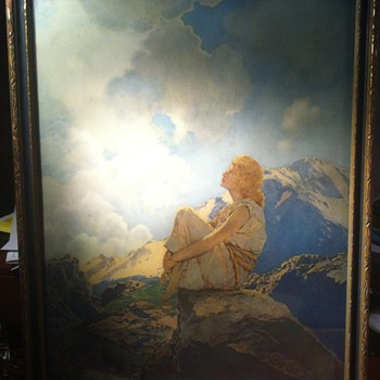 "Maxfiel Parrish print of ""Morning"""