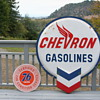 Chevron Gasoline****Union 76 Car Condition Service ,Porcelain Signs