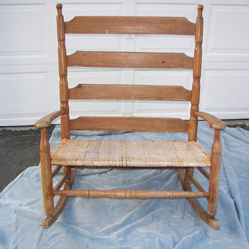 Ladder back settee/loveseat rocking chair