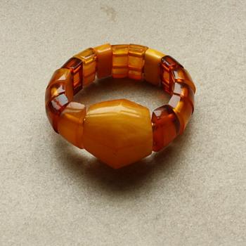 Art deco amber bracelet - Fine Jewelry