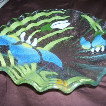 painted glass bowl - Art Glass