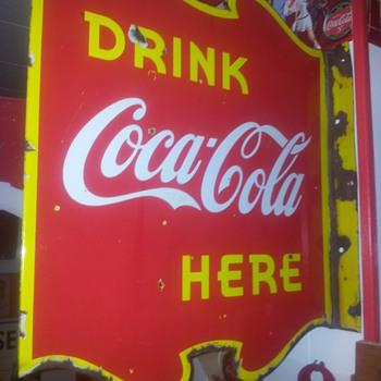 1940 Canadian Coca-Cola Flange - Coca-Cola