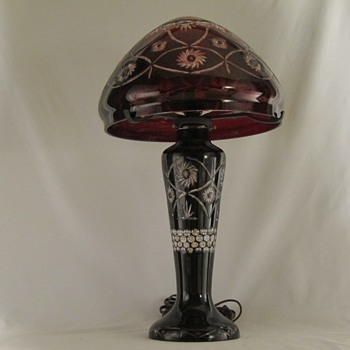 Bohemian Ruby 2 Clear Table Lamp