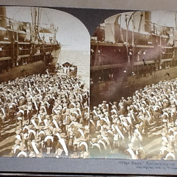 """Our Boys"" Embarking on the ""St. Louis."" - Photographs"