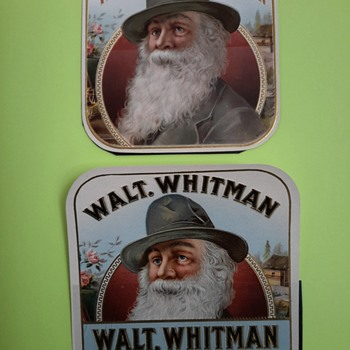 Walt Whitman cigar label collection