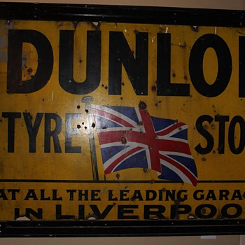 Dunlop Tyre Sign from Liverpool - Petroliana