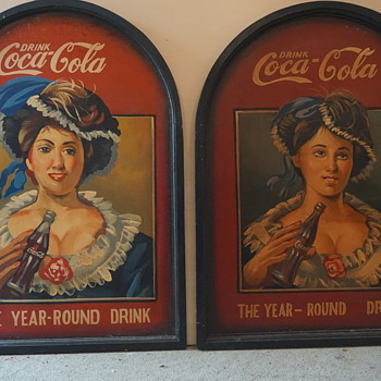 Coca-Cola Hand Painted Picture