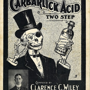 "HALLOWEEN-ISH,"" CARBALICK ACID""(SP) TWO- STEP by CLARENCE WILEY( Pharmicist,Died 1908 Morphine Overdose)"
