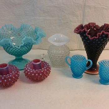 MORE FENTON HOBNAIL PIECES FROM MY COLLECTION