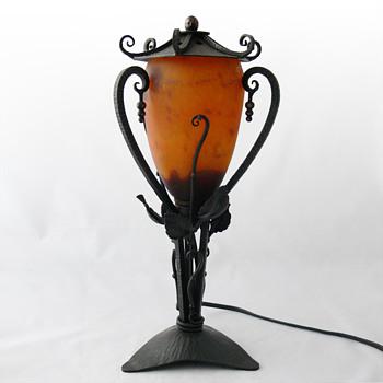 Art Deco Veilleuse. Daum Frères, 1920s. - Lamps