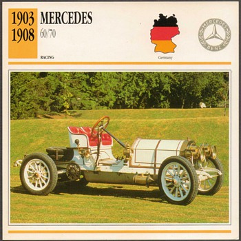 Vintage Car Card - Mercedes 60/70 Racer - Classic Cars