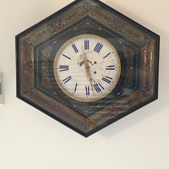 Antique French wound-up Clock