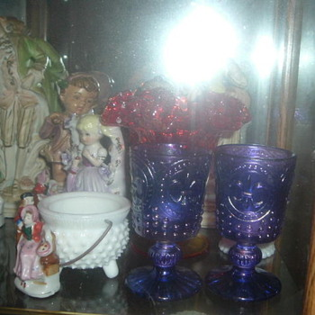 hi i have fenton carnival and west moreland glass - Glassware