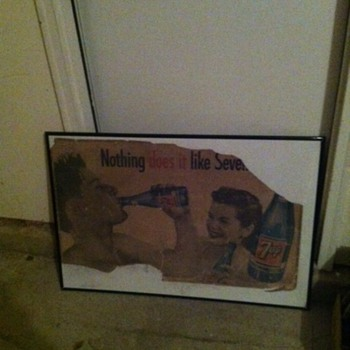 7up ROUGH Cardboard Sign