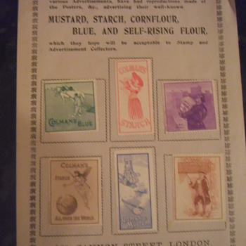colmans mustard stamps - Stamps
