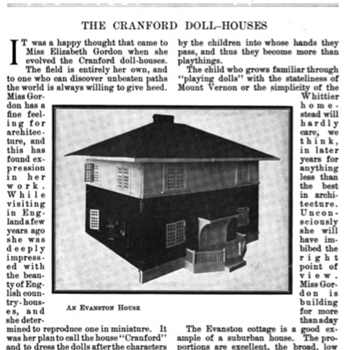 Elizabeth Gordon, Cranford Doll-houses