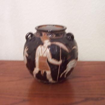 Egyptian Motif Pottery - Art Pottery