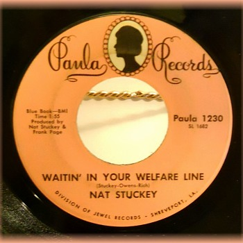 45 rpm Record -- PAULA RECORDS ( Division of JEWEL RECORDS ) - Records