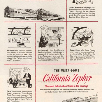 1952 - Western Pacific Railroad Advertisements