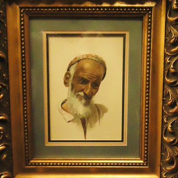 &quot;The Philosopher&quot; 1955 Reg B. Strange  watercolor