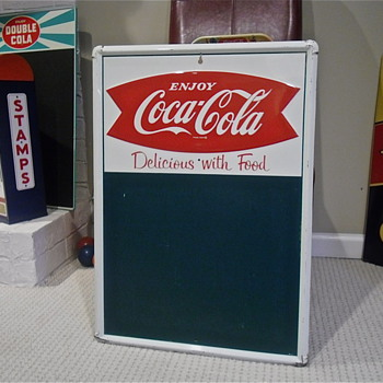 1960 Enjoy Coca Cola Chalkboard, Fishtail