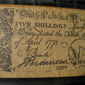 Old South Carolina Money ?? - US Paper Money