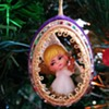 1940's-1950's Vintage Egg Diorama Christmas Ornament