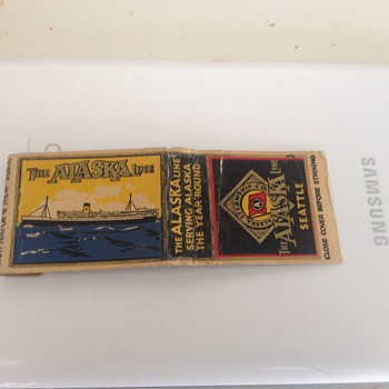 Vintage Rare Alaska Steamship Co. Matchbook