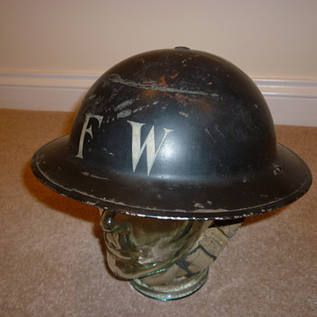 British WWII Fire Watchers helmet. - Military and Wartime