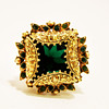 Vintage Florenza Ornate Emerald Ring