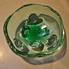 Amoeba Retro Heavy Cut Glass Bowl