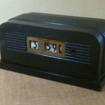 "Telechron Model 8B11 ""Granada"" Art Deco Bakelite Clock 1938 - Art Deco"