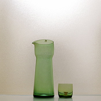 Cocktail Set designed by Kjell Blomberg for Gullaskruf 1962 - Art Glass