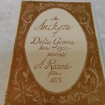 DELTA GAMMA HISTORY BOOK - Books