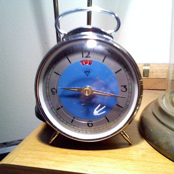 old? maybe Shanghai alarm clock with a little sputnik looking second hand - Clocks