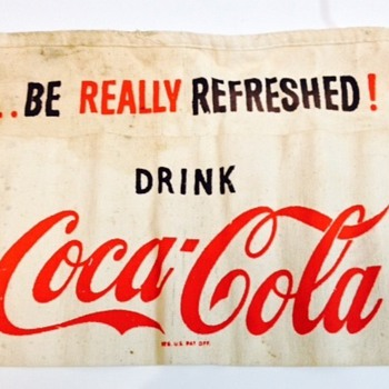 1950's Coca Cola waist tie apron