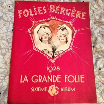 Folies bergère 1928 la grande folie  Sixieme album  - Paper