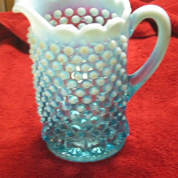 Blue Opalescent Hobnail and Thumbprint rarity EAPG Guru's Help Please - Glassware