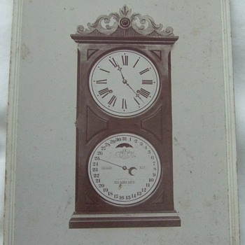 Cabinet Card of Ithaca Calendar Clock