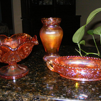 Newly Inherited Carnival Glass - Glassware