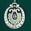 Jugendstil plique enamel pendant