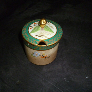 ANTIQUE LIDDED POTTERY JAM JAR - China and Dinnerware
